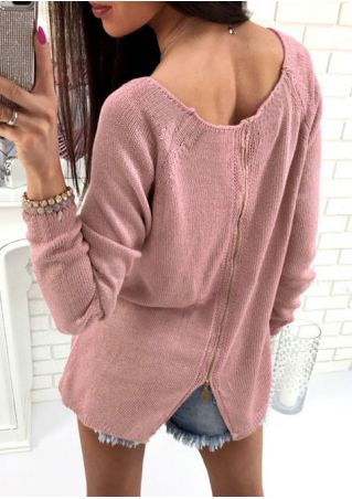 Solid Long Sleeve O-Neck Sweater