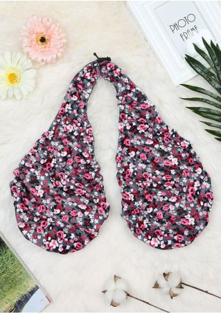 Floral Halter Comfortable Adjustable Tatatowel