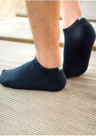 Color Block Comfortable Short Socks Color