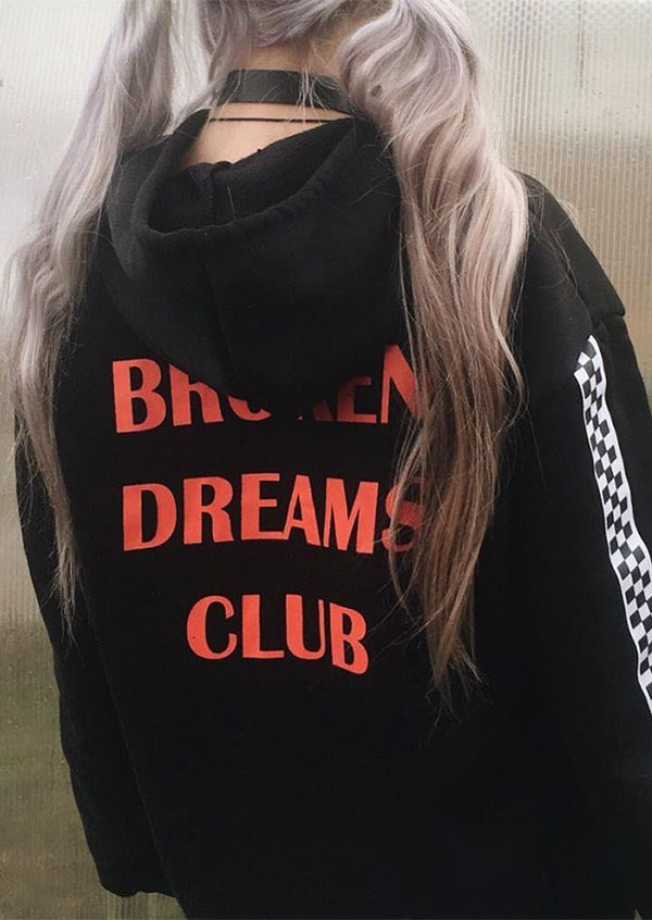 Broken Dreams Club Plaid Hoodie Fairyseason