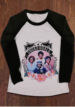Squad Goals O-Neck Baseball T-Shirt