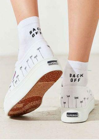 Back Off Soft Comfortable Socks Back