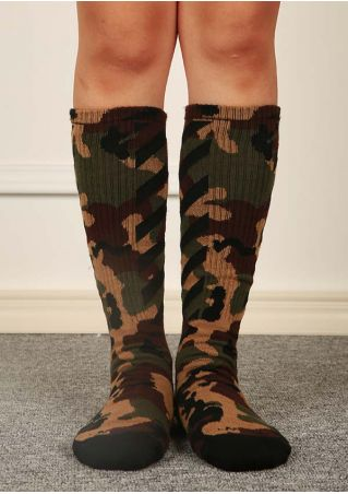 Camouflage Printed Long Socks Camouflage