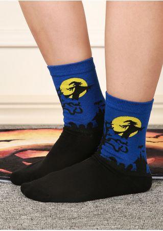 Halloween Witch Moon Socks