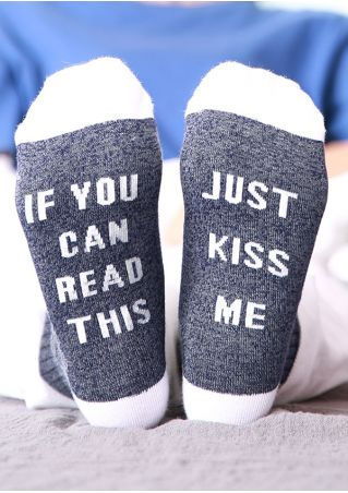 Just Kiss Me Color Block Socks