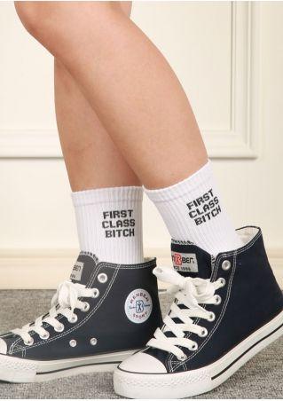 First Class Bitch Long Socks