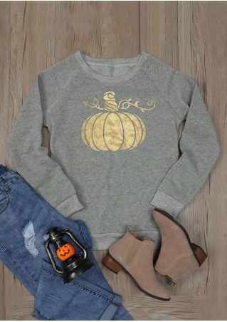 Halloween Pumpkin O-Neck Long Sleeve Sweatshirt