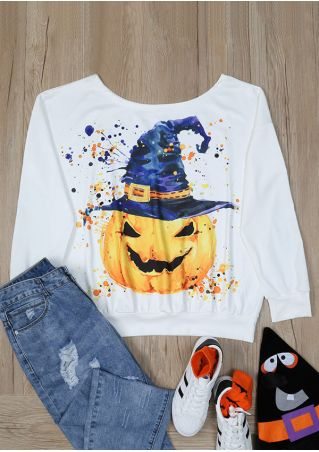 Halloween Pumpkin Hat O-Neck T-Shirt