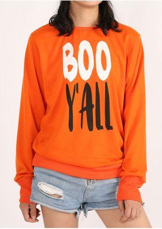 Halloween Boo Y'all O-Neck Sweatshirt