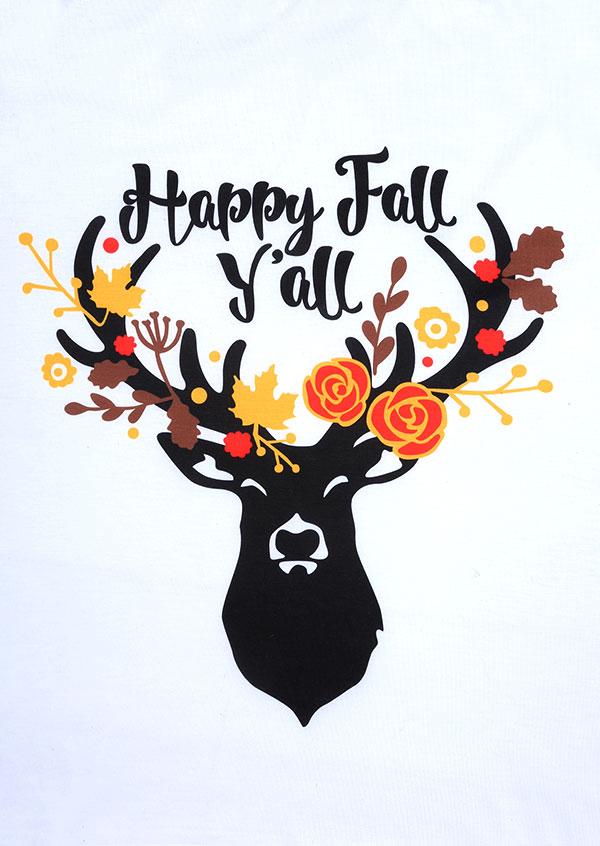 Happy Fall Y All O Neck Baseball T Shirt Fairyseason