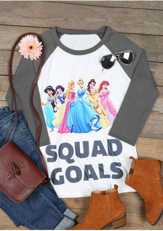 Squad Goals Princess Baseball T-Shirt