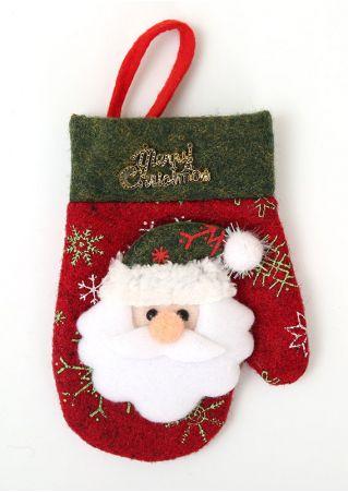 Merry Christmas Glove Style Tableware Holder Pocket