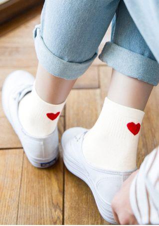 Heart Short Socks
