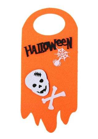 Halloween Skull Pumpkin Face Door Handles Hanging Sign