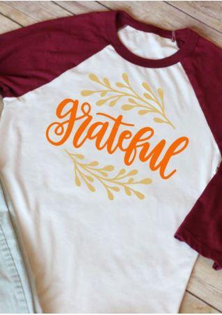 Grateful Long Sleeve Baseball T-Shirt