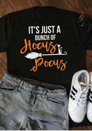Halloween Hocus Pocus O-Neck T-Shirt