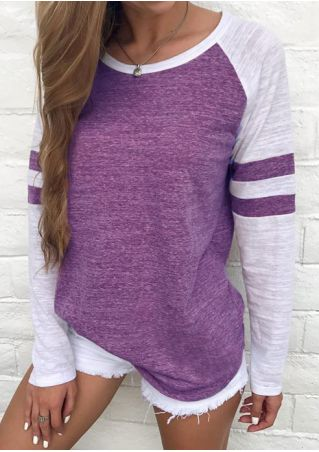 Striped Detail Baseball T-Shirt without Necklace