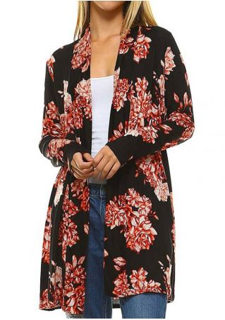 Floral Long Sleeve Cardigan
