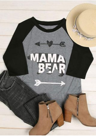 Mama Bear Arrow Baseball T-Shirt