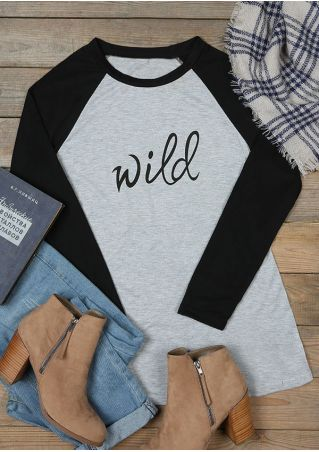 Wild Color Block Long Sleeve Blouse