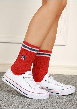 M Striped Warm Socks