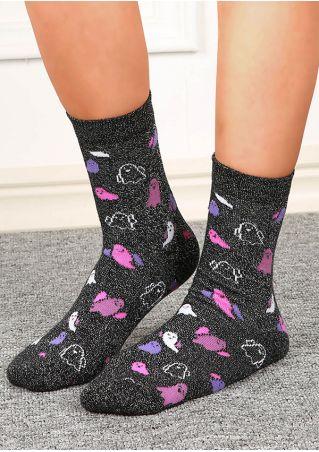 Halloween Ghost Short Socks
