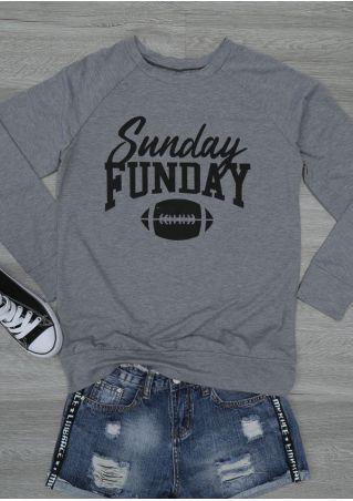 Sunday Funday Football Long Sleeve Sweatshirt