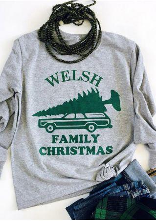Christmas Welsh Family O-Neck T-Shirt