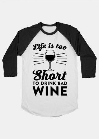 Life Is Too Short Baseball T-Shirt