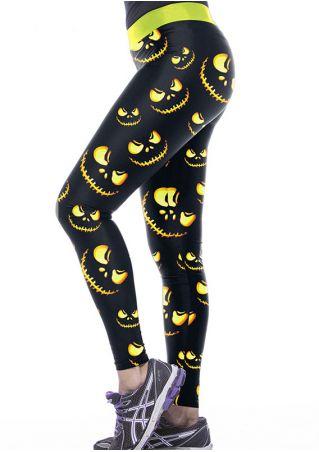 Halloween Grimace Splicing Elastic Waist Sport Pants