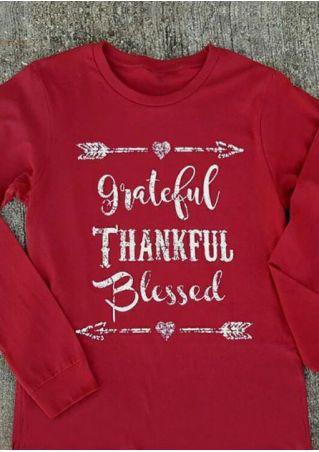 Grateful Thankful Blessed Arrow Sweatshirt