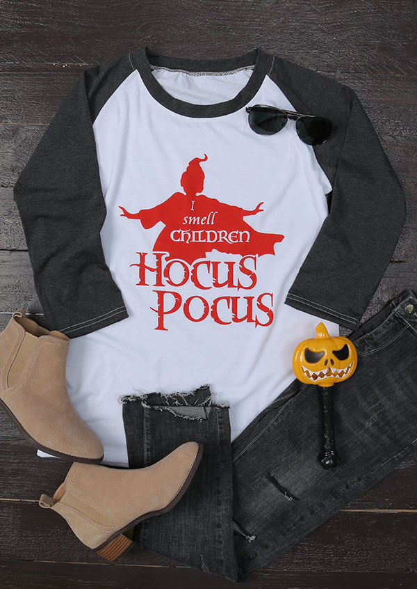 Halloween I Smell Children Hocus Pocus Baseball T Shirt