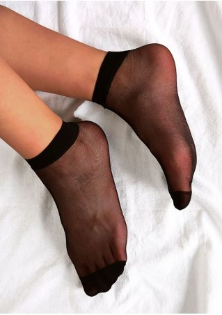 Solid Mesh Splicing Socks