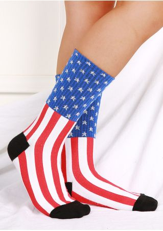 American Flag Warm Comfortable Socks