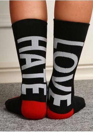 Love Hate Splicing Socks