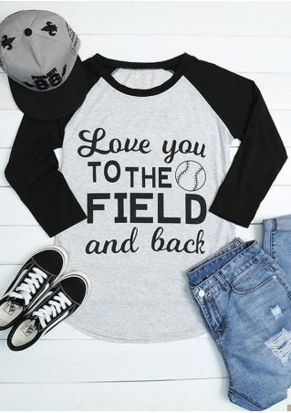 Love You To The Field And Back Baskball T-Shirt