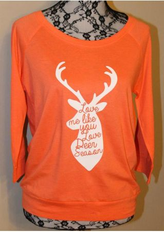 Love Me Like You Love Deer Season Sweatshirt