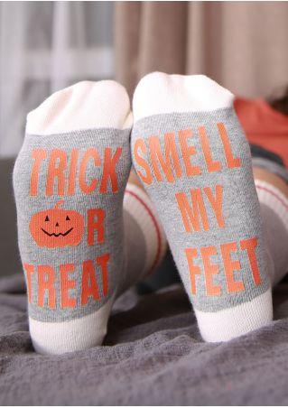 Halloween Trick Or Treat Pumpkin Socks