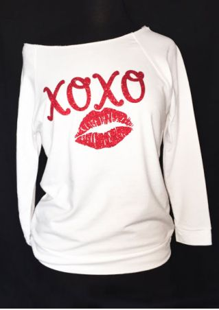 Xoxo Lips Long Sleeve Sweatshirt