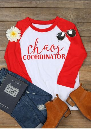 Chaos Coordinator O-Neck Baseball T-Shirt