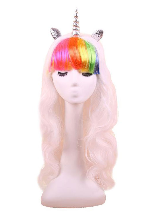 Halloween Unicorn Horn Colorful Cosplay Hair Wig Fairyseason
