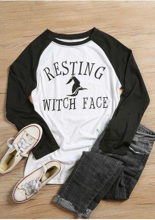 8308c0919a9 Halloween Resting Witch Face Baseball T-Shirt - Fairyseason
