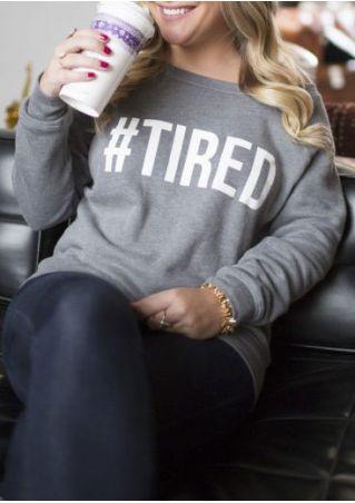 Tired O-Neck Long Sleeve Sweatshirt