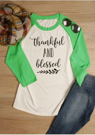 d3204e87129 Plus Size Thankful And Blessed Baseball T-Shirt - Fairyseason