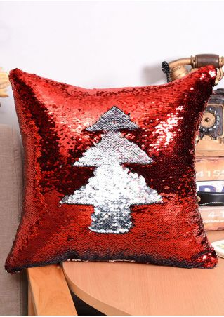 Contrast Color Sequined Pillow Case
