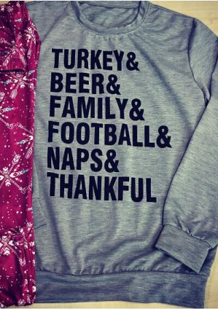 Turkey Beer Family Football Naps Thankful Sweatshirt