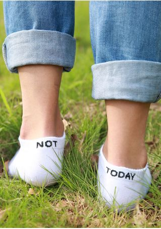 Not Today Short Socks