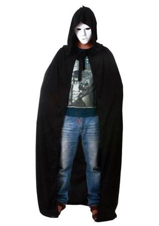 Halloween Solid Demon Hooded Cape