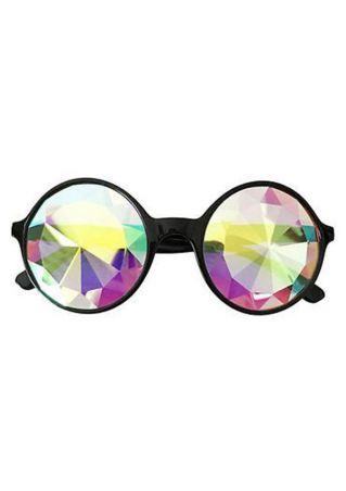 Kaleidoscope Lens Retro Round Sunglasses