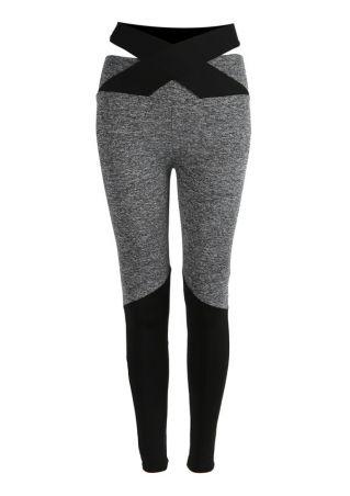 Splicing Tie Skinny Sport Pants